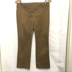 J. Crew City Fit Olive/Brown Trousers - Size 4